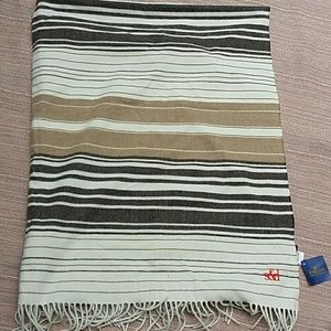 NWT monogrammed Pendleton wool throw